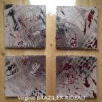 Abstrait 128- 4 Toiles de 20x20
