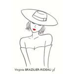 Femme au Chapeau-Format A4-Réservée