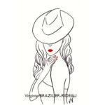 Femme au Chapeau #2-Format A4-Vendue