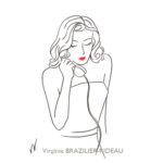 Femme au Téléphone-Format A4-Vendue