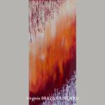 Abstrait Rouge 649-30x60