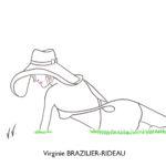 Femme au Chapeau allongée dans l'herbe-Format A4