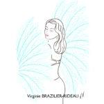 Pin-up Burlesque Bleue-Format A4