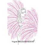 Pin-up Burlesque Rose-Format A4