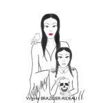 Morticia & Wednesday-Format A4